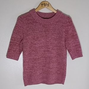 Ann Taylor pink crew neck sweater Med marled